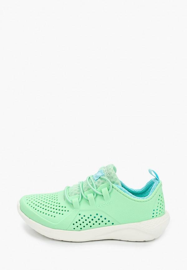 кроссовки crocs для девочки, бирюзовые