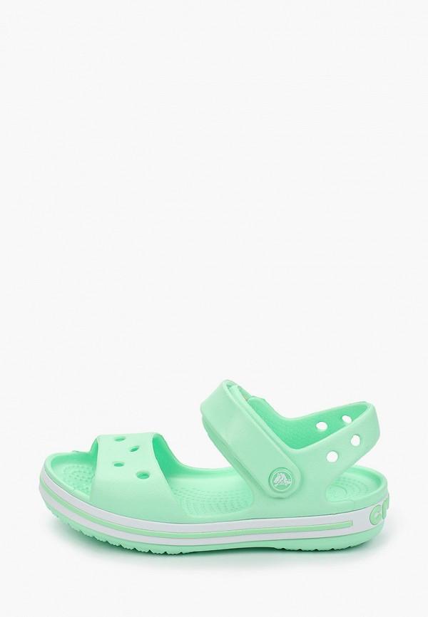сандалии crocs для девочки, зеленые