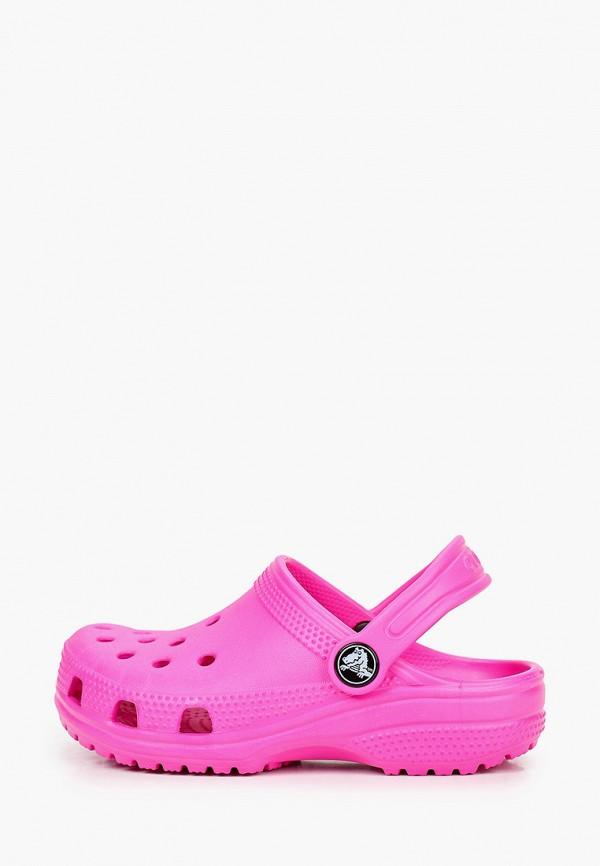 сабо crocs для девочки, розовое