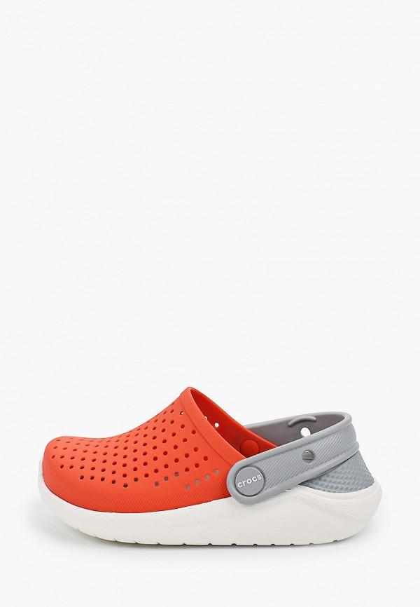 сабо crocs для девочки, оранжевое