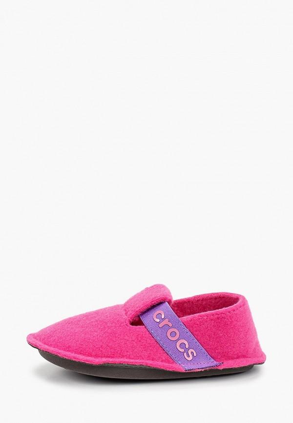 тапочки crocs для девочки, розовые