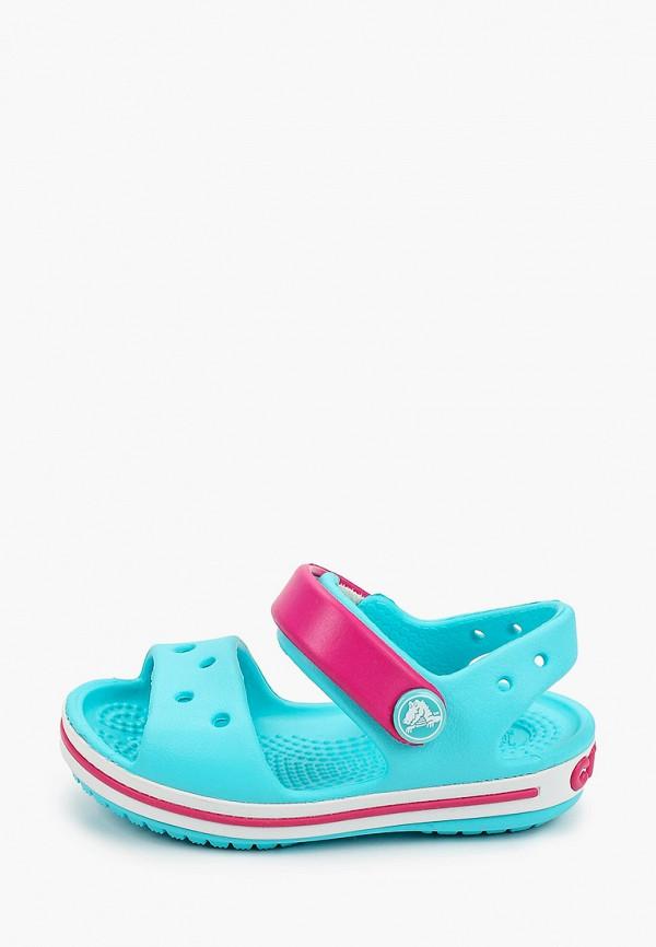 сандалии crocs для девочки, голубые