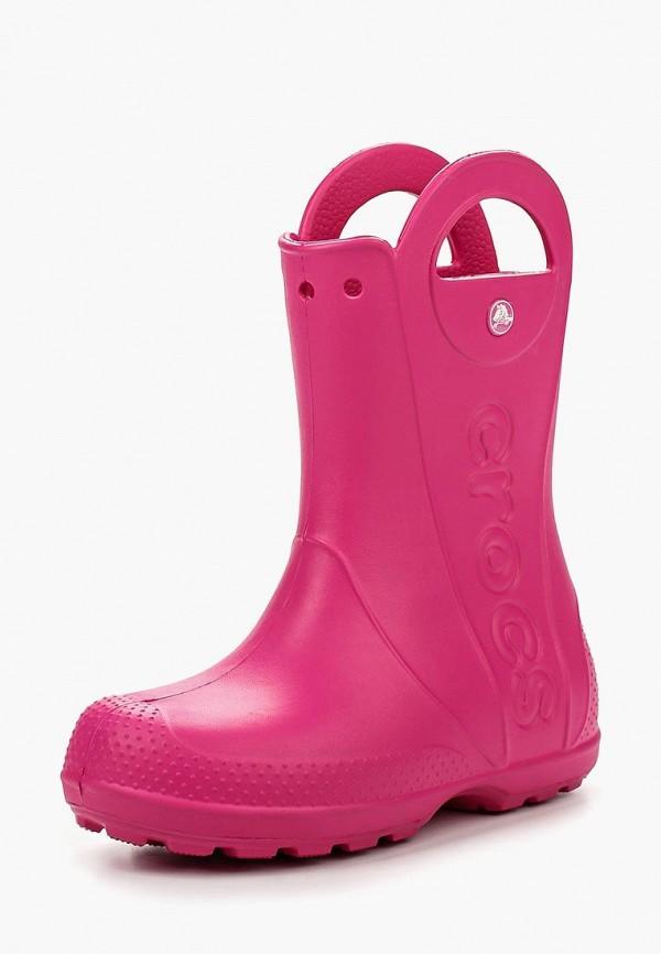 резиновые сапоги crocs для девочки, фуксия