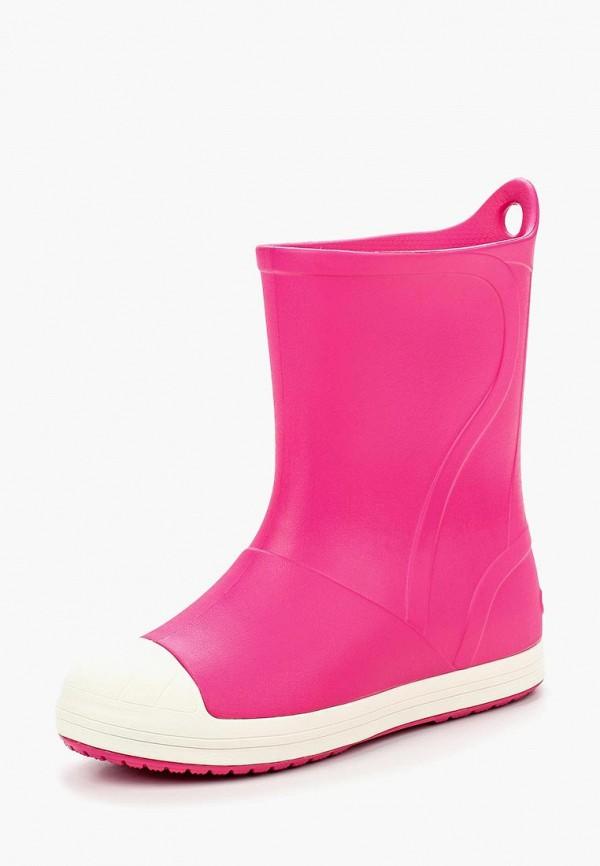 Фото - Резиновые сапоги Crocs розового цвета