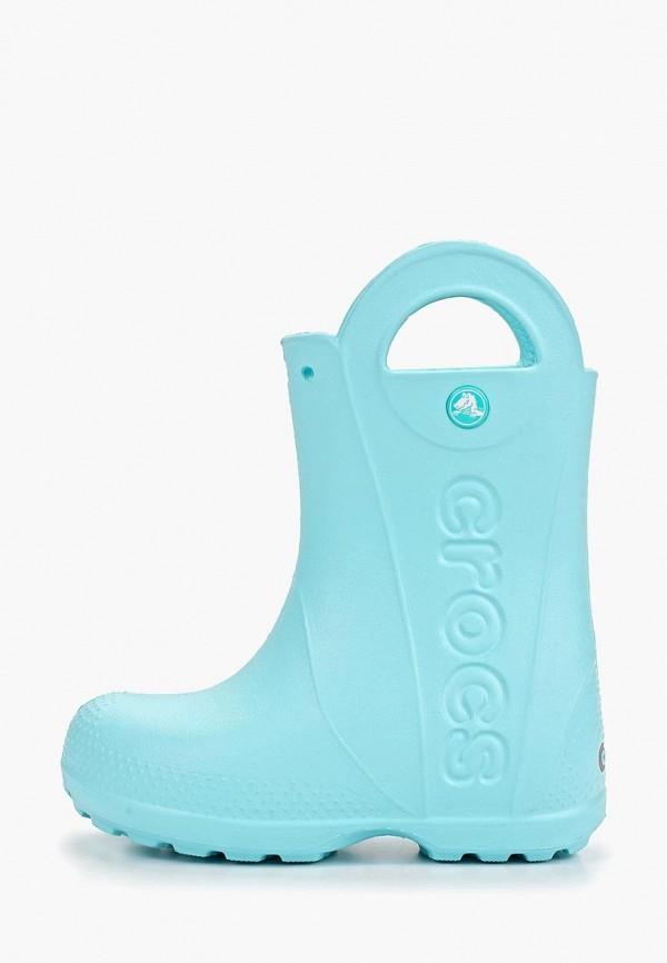 резиновые сапоги crocs малыши, голубые