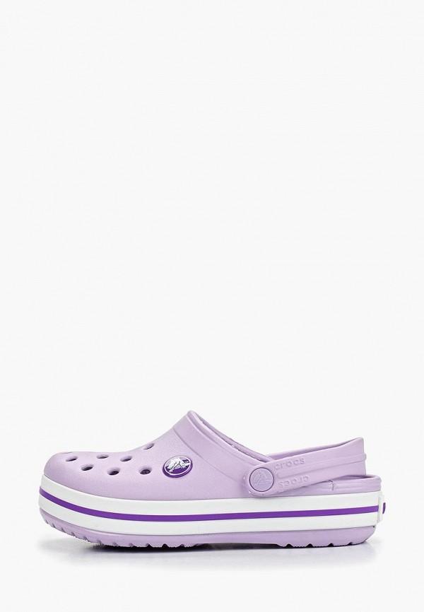 сабо crocs малыши, фиолетовое