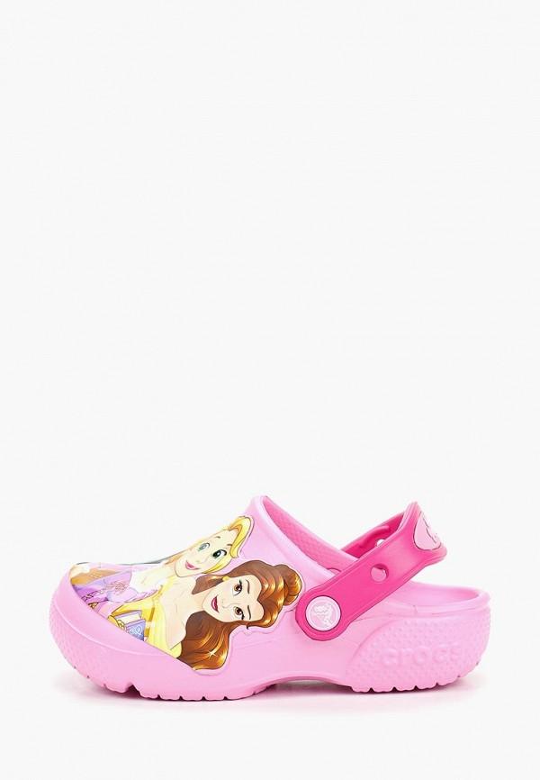 сабо crocs малыши, розовое