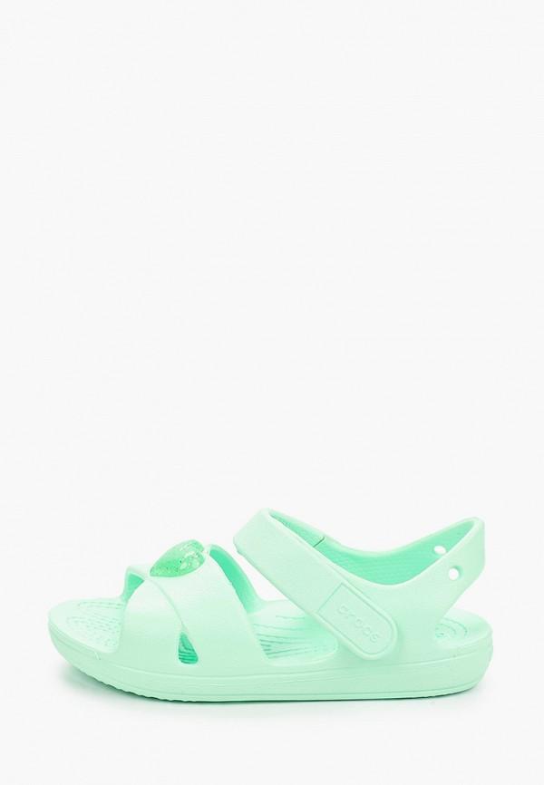 сандалии crocs малыши, зеленые