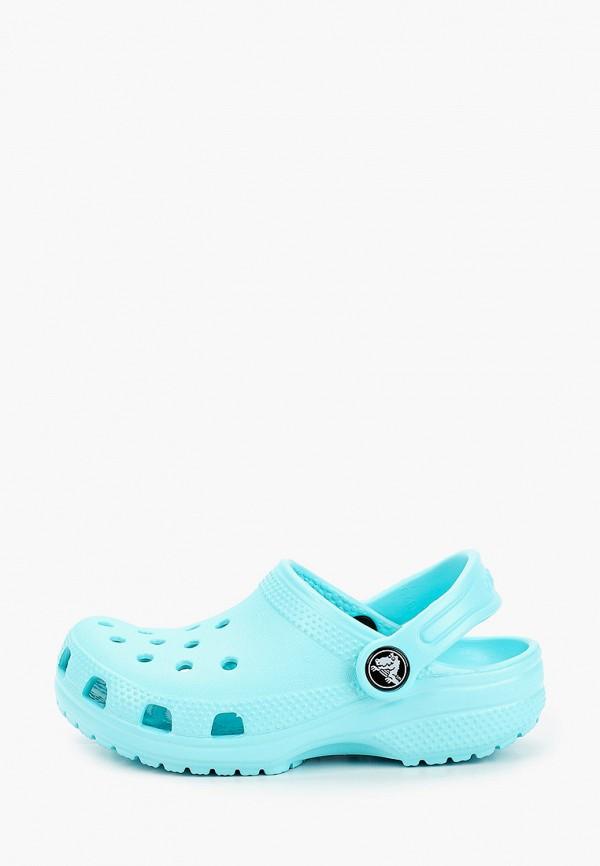 сабо crocs малыши, голубое