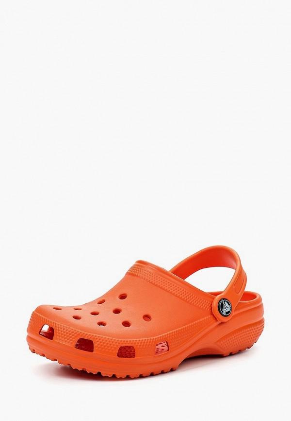 сабо crocs малыши, оранжевое