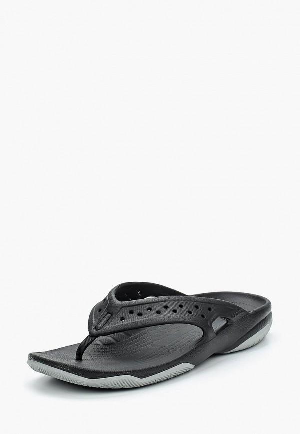 мужские сланцы crocs, черные