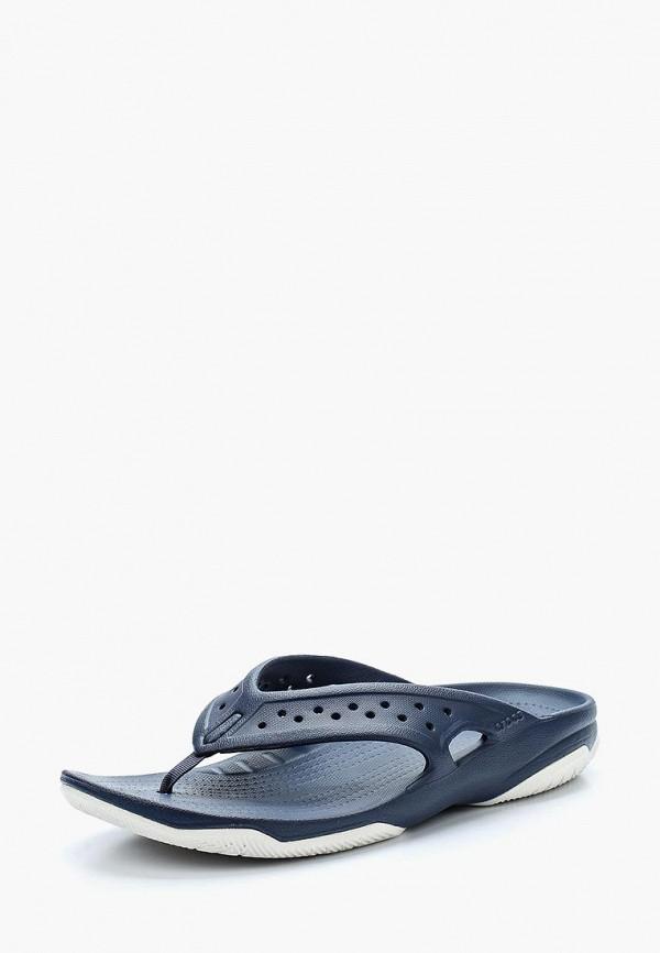 мужские сланцы crocs, синие