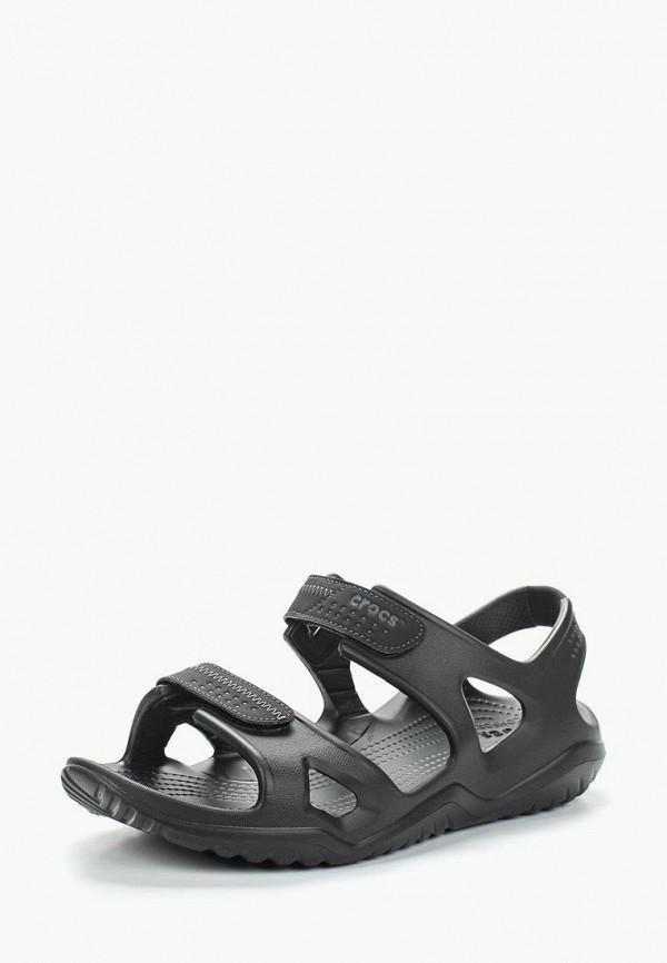 мужские сандалии crocs, черные