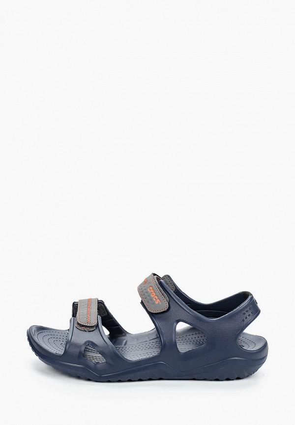 мужские сандалии crocs, синие