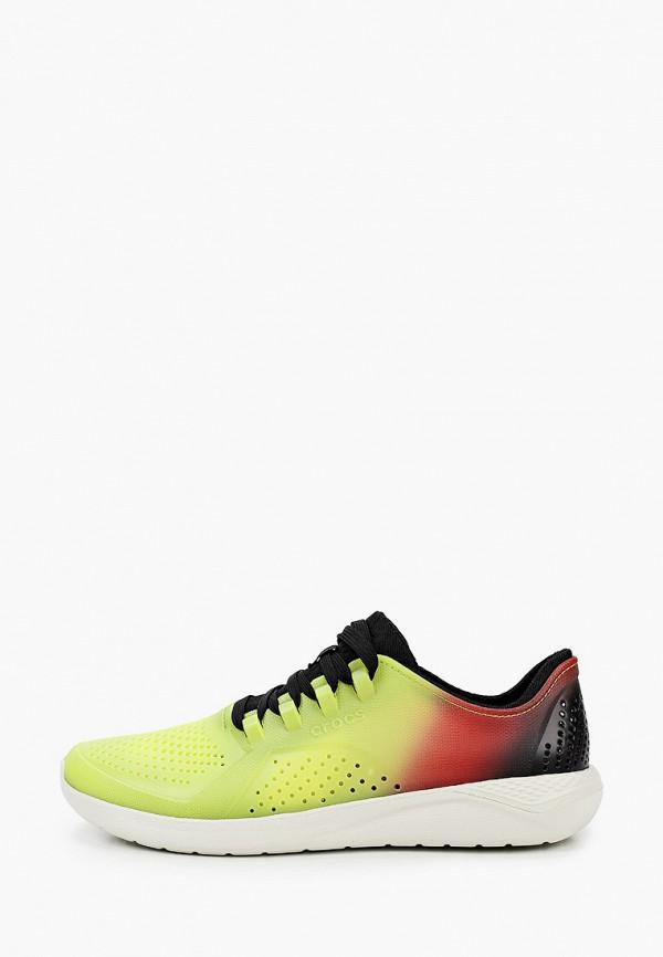 мужские кроссовки crocs, зеленые