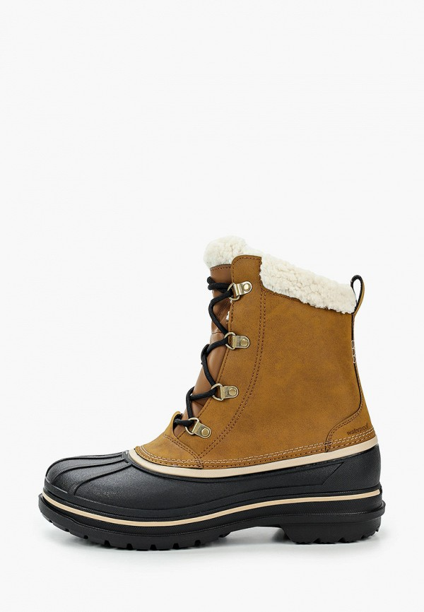 мужские высокие ботинки crocs, бежевые