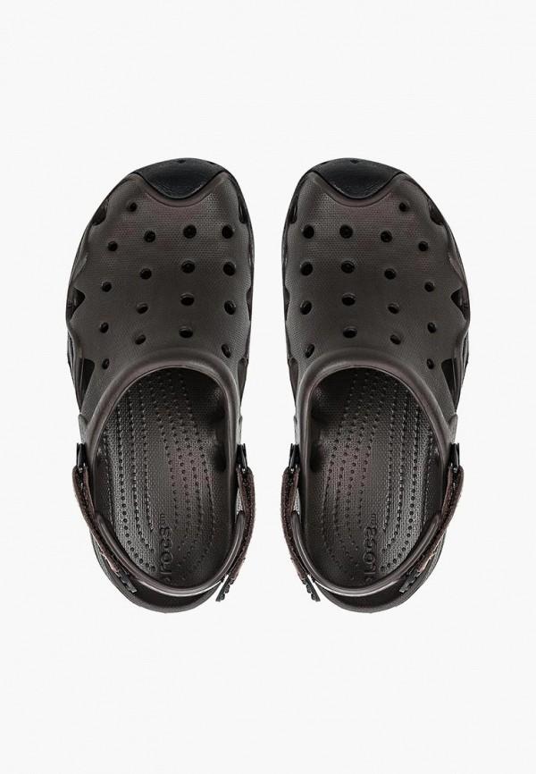 мужское сабо crocs, коричневое