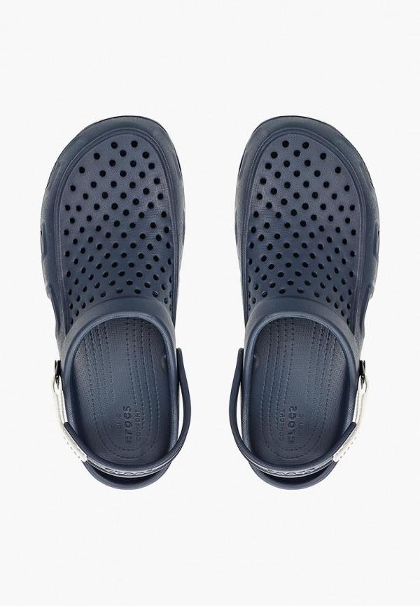 мужское сабо crocs, синее
