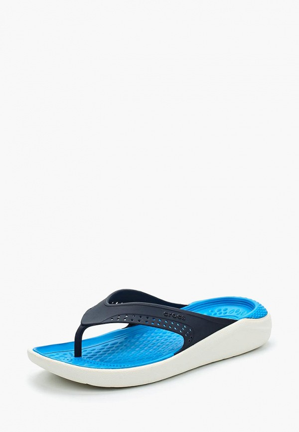 женские сланцы crocs, синие