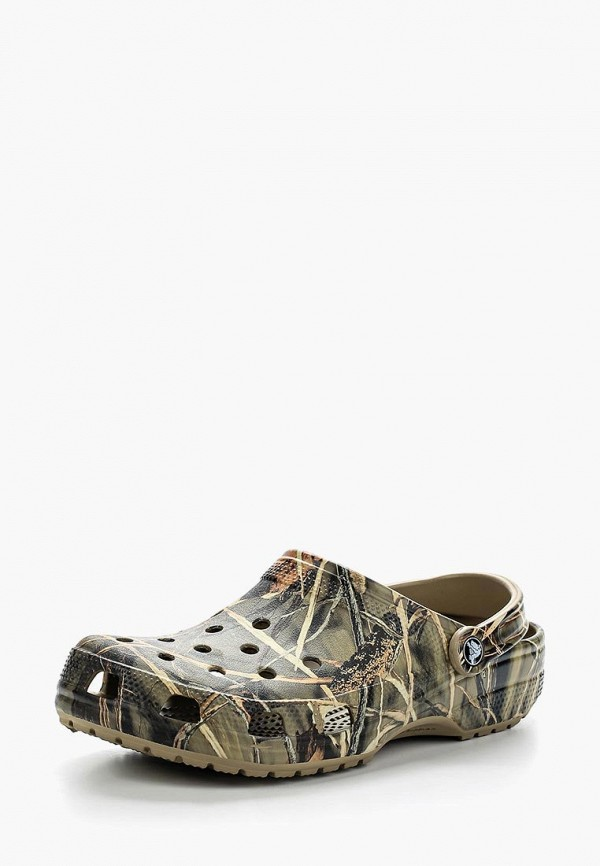 женское сабо crocs, хаки