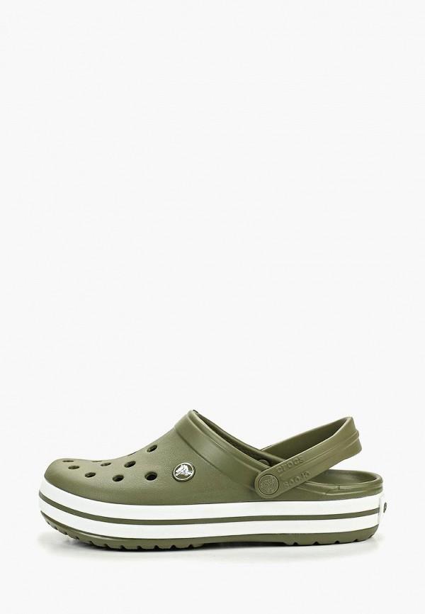 женское сабо crocs, зеленое
