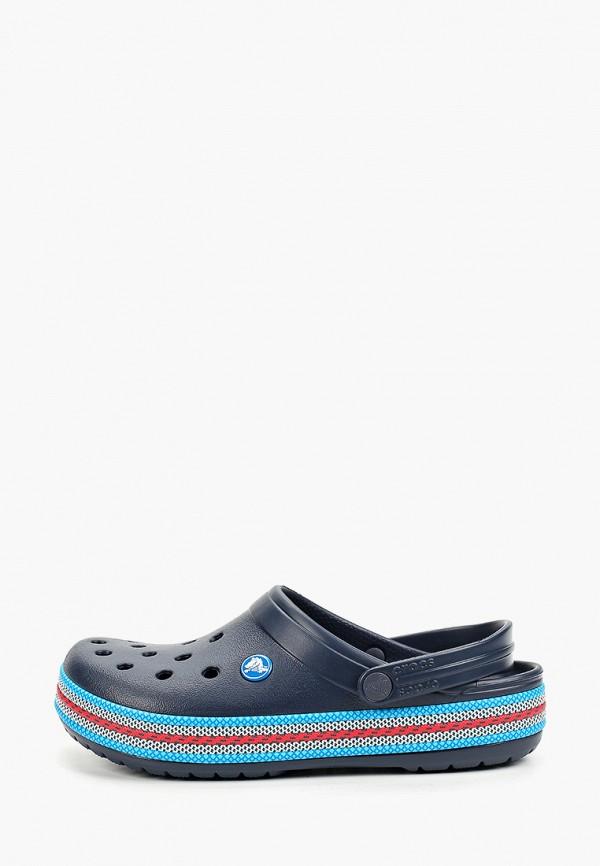 женское сабо crocs, синее