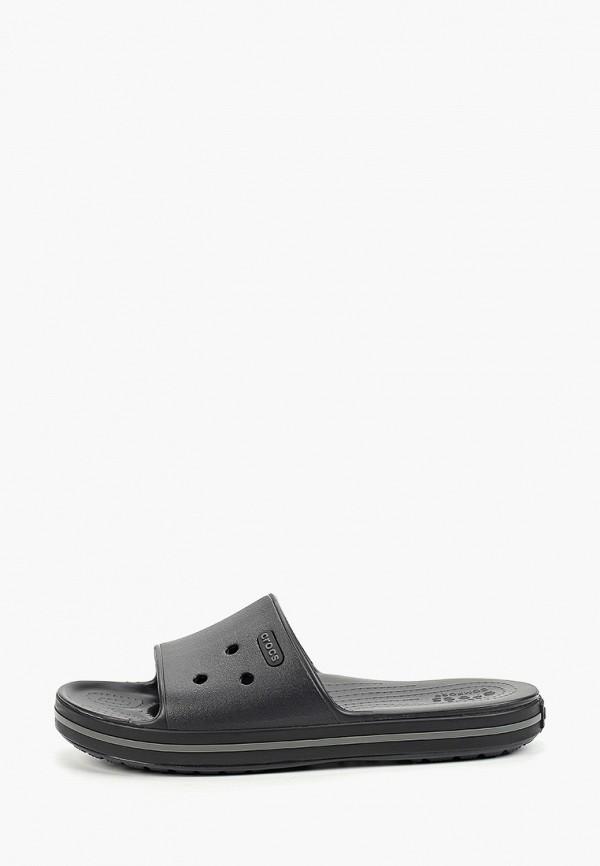 женские сланцы crocs, черные