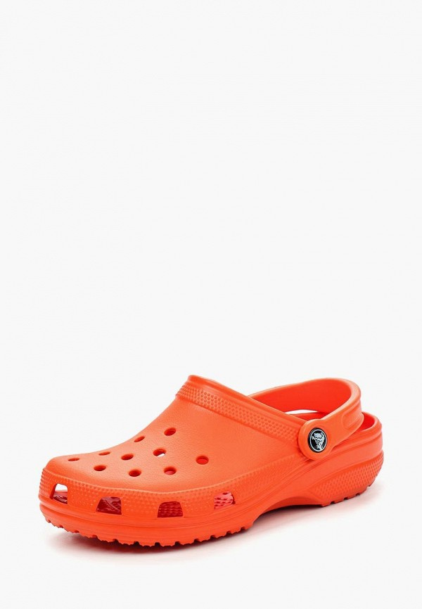 женское сабо crocs, оранжевое