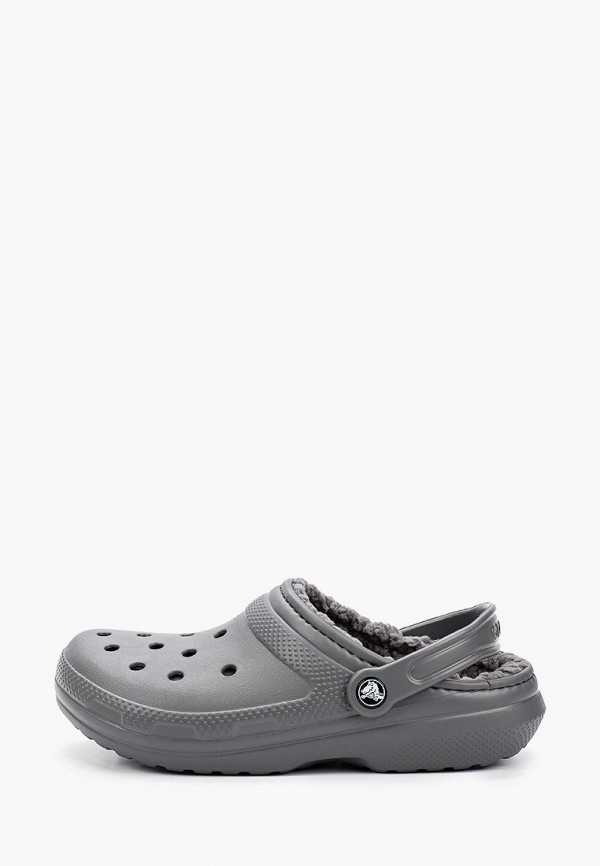 женское сабо crocs, серое