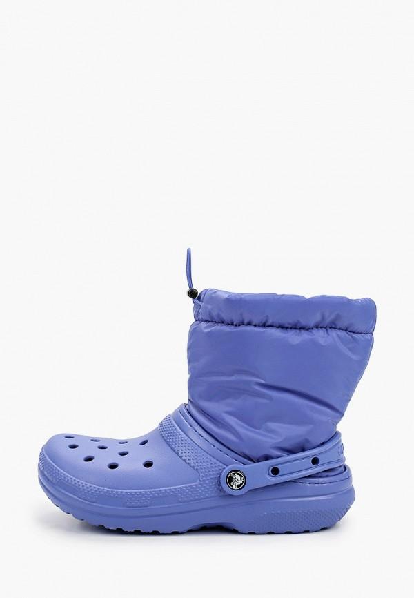 женские резиновые сапоги crocs, фиолетовые