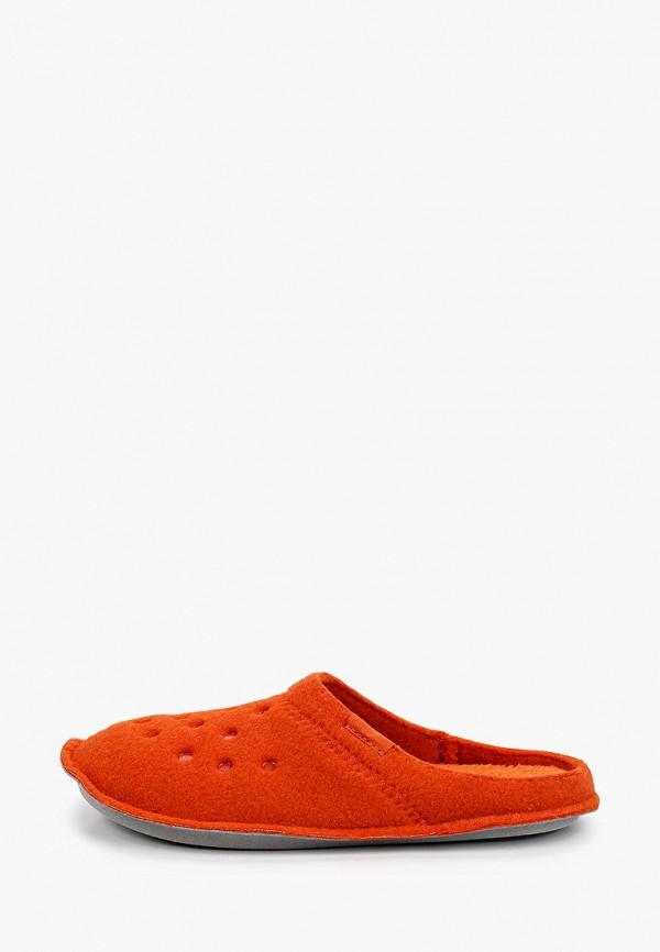 женские тапочки crocs, оранжевые