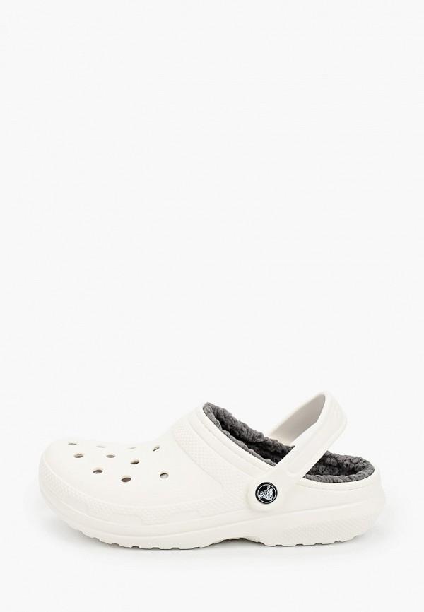 женское сабо crocs, белое