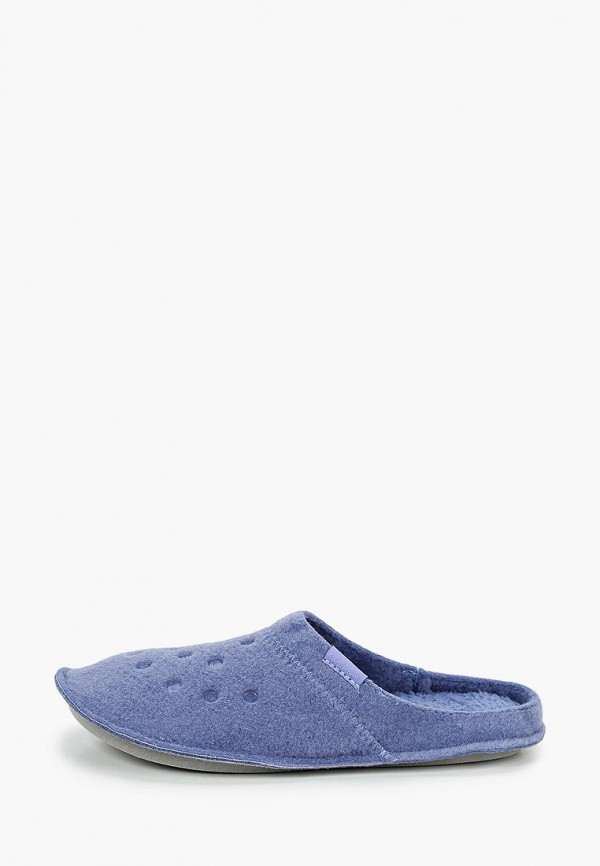 женские тапочки crocs, синие