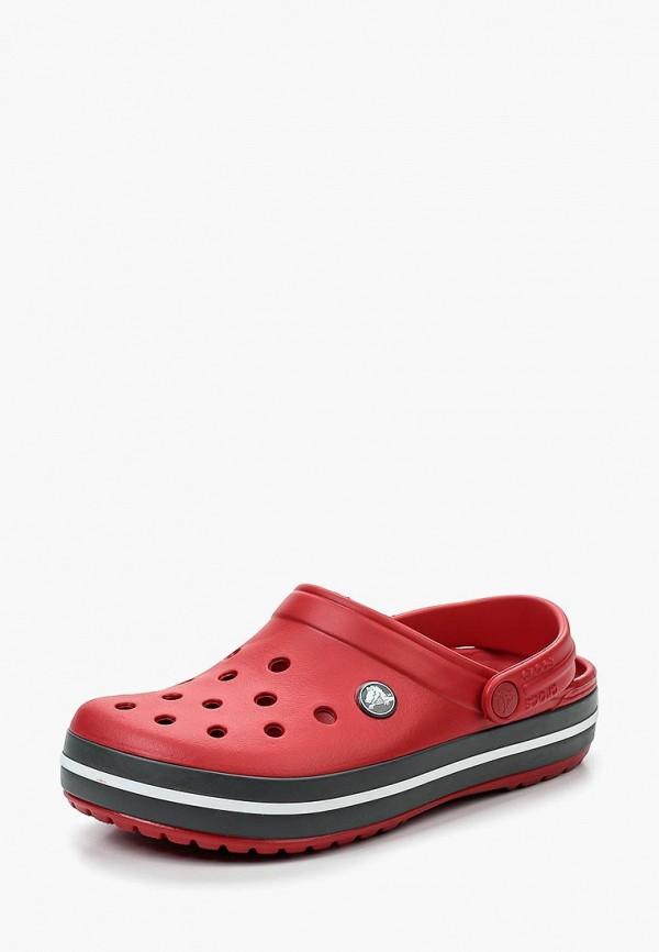 женское сабо crocs, красное