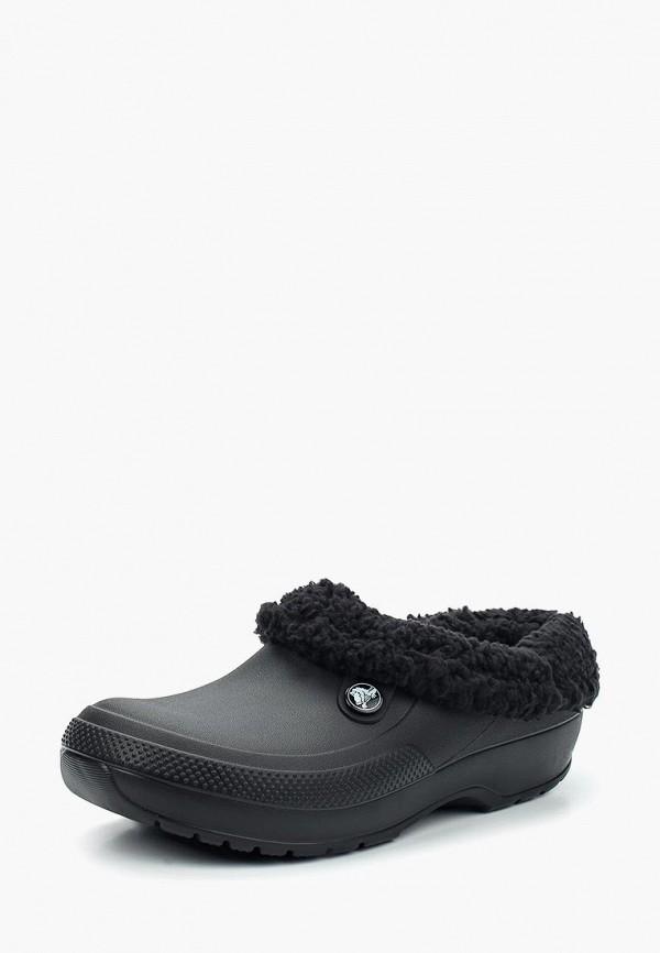 женское сабо crocs, черное