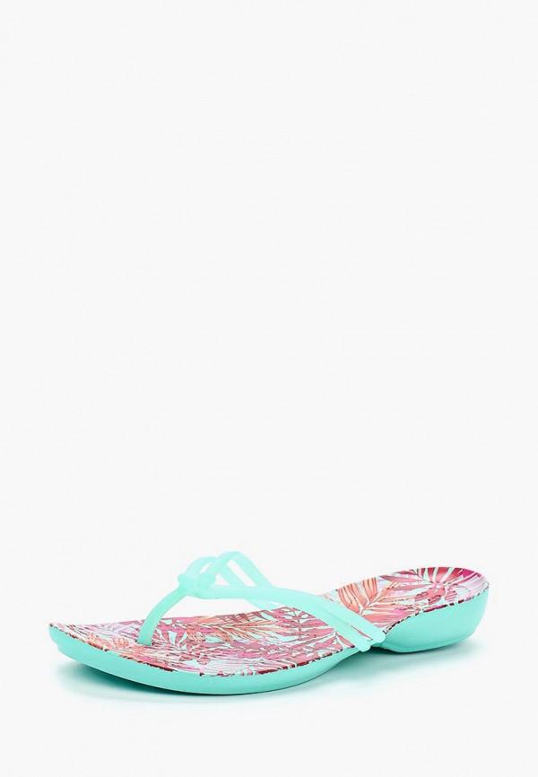 Купить Сланцы Crocs, CR014AWARRE6, бирюзовый, Весна-лето 2018