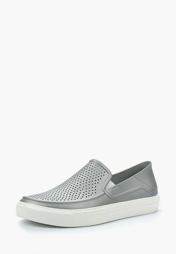 Купить Слипоны Crocs, CR014AWARRL0, серый, Весна-лето 2018