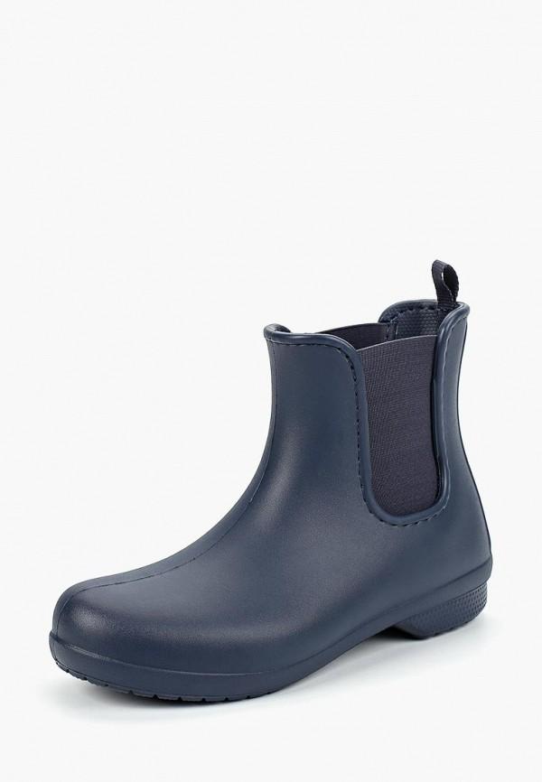женские ботинки crocs, синие