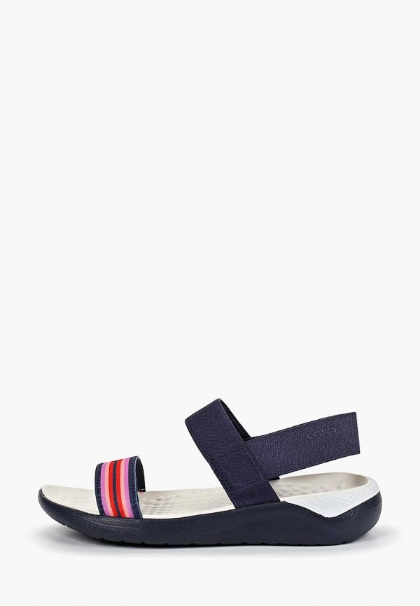 женские сандалии crocs, синие