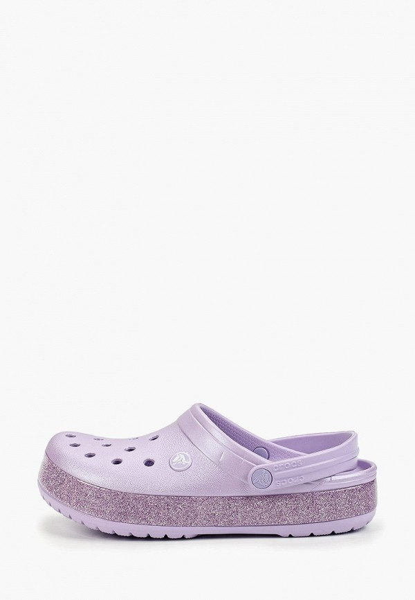 женское сабо crocs, фиолетовое