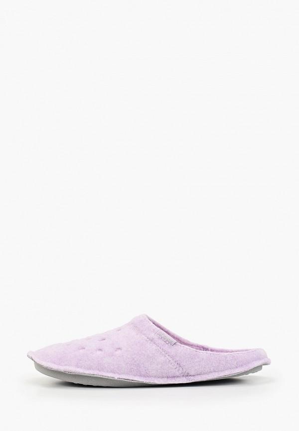 женские тапочки crocs, фиолетовые