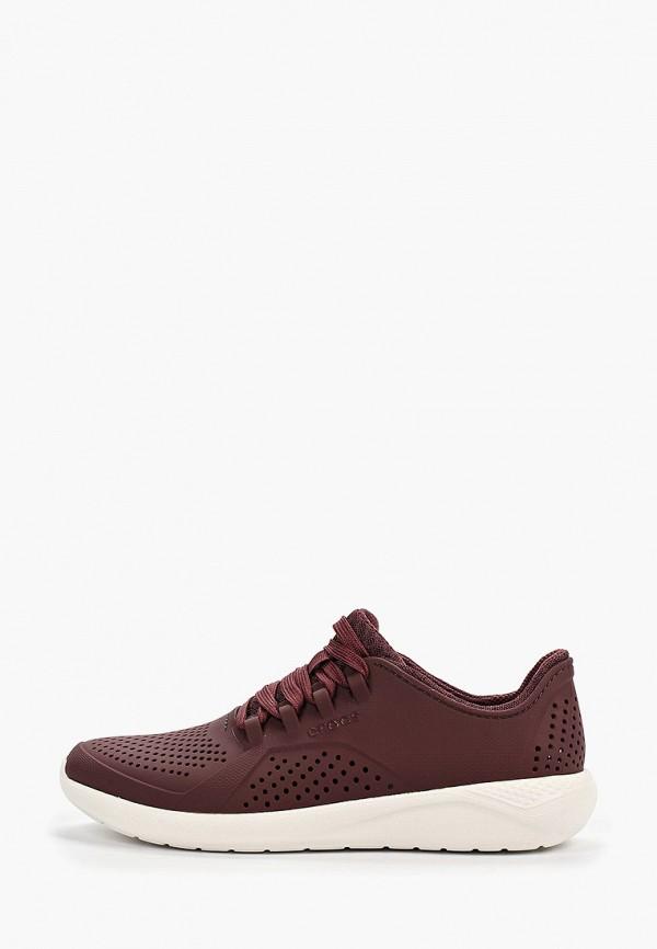 женские кроссовки crocs, бордовые