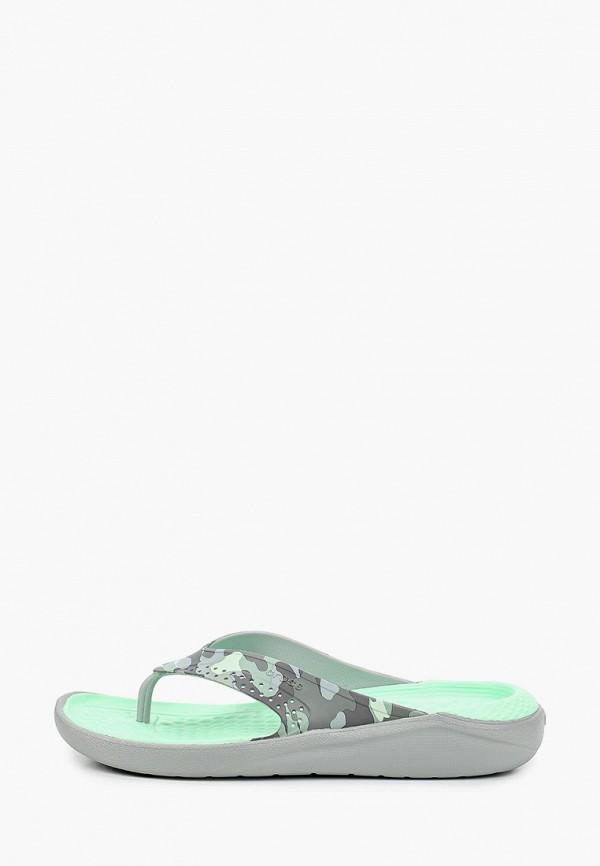 женские сланцы crocs, серые