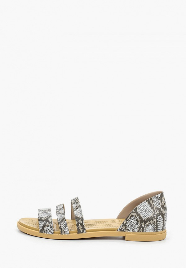 женские сандалии crocs, серые