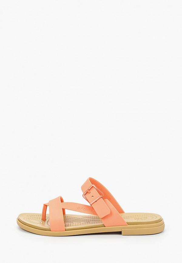 женские сандалии crocs, оранжевые