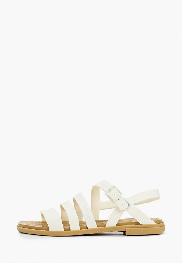 женские сандалии crocs, белые