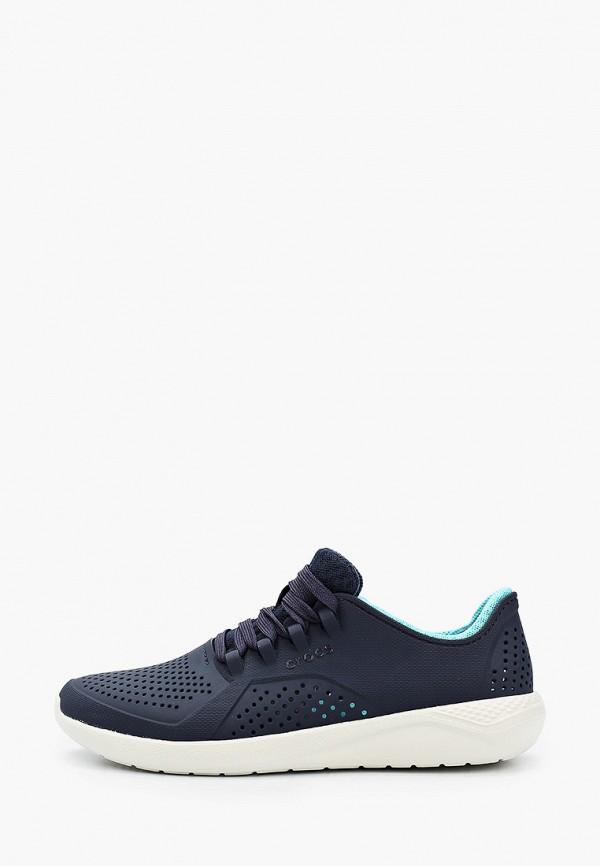 женские низкие кроссовки crocs, синие