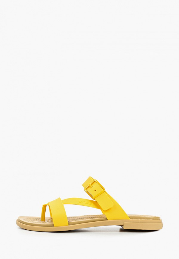 женские сланцы crocs, желтые