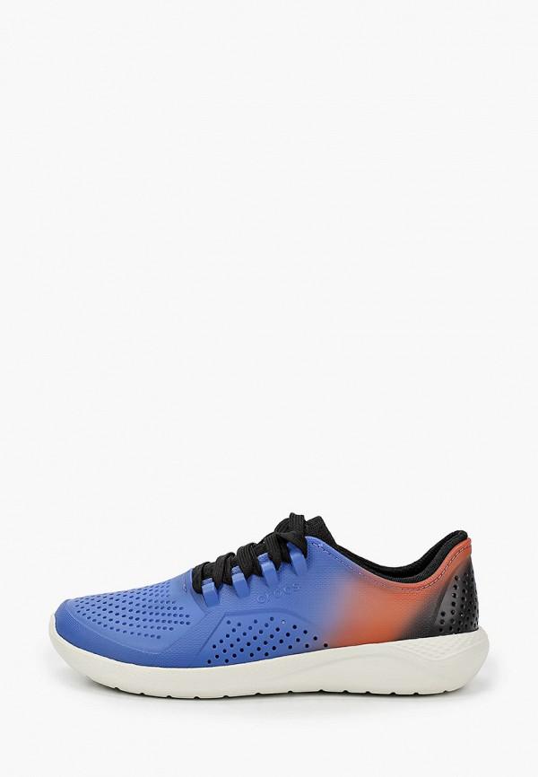 женские кроссовки crocs, синие