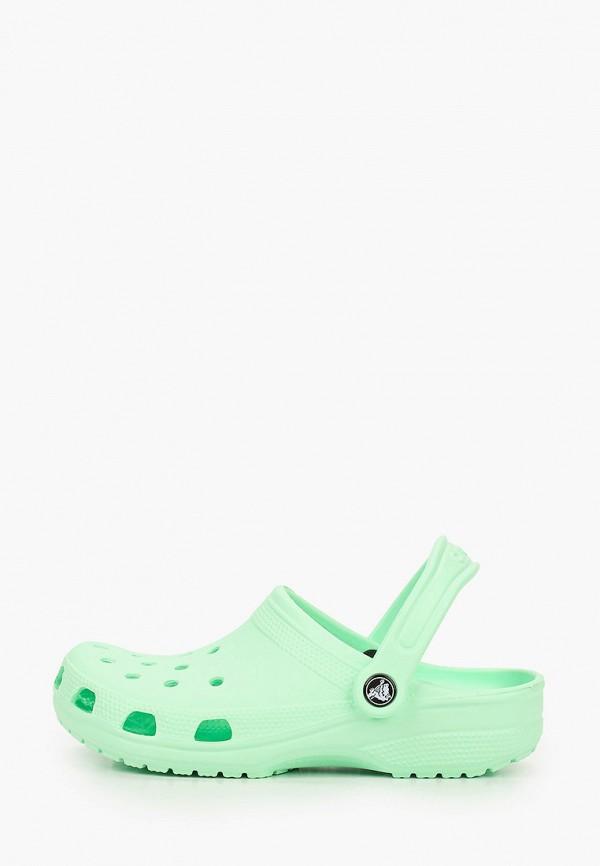 женское сабо crocs, бирюзовое